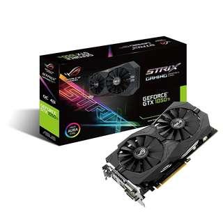 BNIB - ASUS GTX 1050Ti 4GB ROG STRIX OC(STRIX-GTX1050TI-O4G-GAMING) Graphic Cards