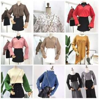 New instock arriving! Korean style top/ blouse all under $10!!