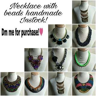 Necklace with Beads Handmade Instock!