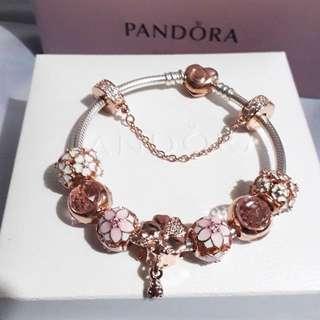 Pandora Bracelet with Charm Sale Set (Rose Gold)