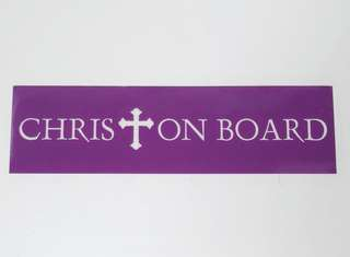 Car Decal - Christ on Board