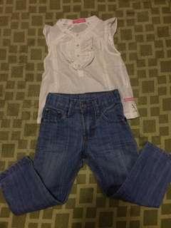 Take White Blouse and Pants (2T)