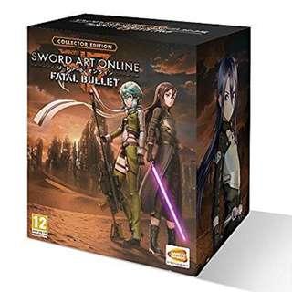 PS4 SWORD ART ONLINE FATAL BULLET COLLECTOR EDITION R3 JP/ENG