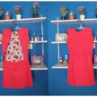 Dress PinkFanta flowersback