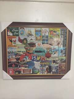 Newport framed puzzle