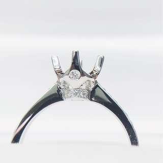 18K White Gold 0.8 Carat Ring Mounting