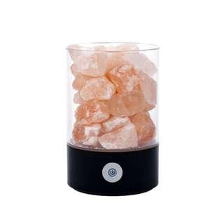 Himalayan Pink Salt Black Lamp