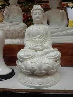 14inch white porcelain buddha