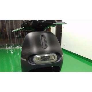 【騰信車體包膜】GOGORO2大燈德國ORACAL淺燻黑燈膜包膜