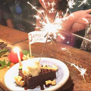 Sparklers Cake Sparkling Candle
