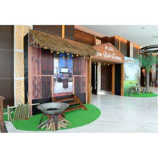 backdrop,entrance  and interior  fabrication with props available for sales and rental