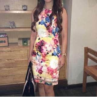 PRELOVED flower dress IMPORT CHINA