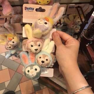 原價95折計算 Disneyland 迪士尼樂園 Duffy Shellie May Gelatoni Stella Lou 復活節 版本 兔仔 雞仔 造型 橡筋 橡根 可以代購迪士尼樂園其他產品