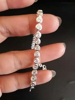 Tennis Bracelet in Authentic Silver