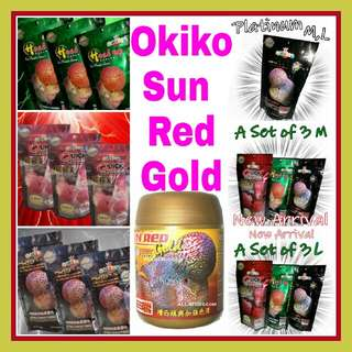 Okiko Sun Red Gold 120g M plus Okiko Red Head Mark 100g M