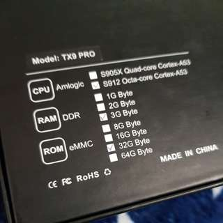 New TX9 Pro 3gb ram 32 gb rom android tv box for sale or trade