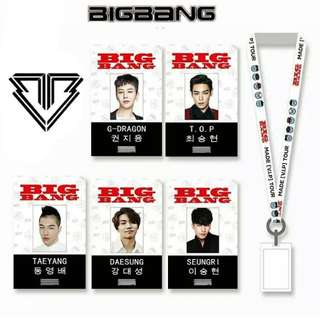 Preorder - BIGBANG ID CARD LANYARD *each* (CHOOSE MEMBER) exc.pos