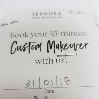 Sephora Makeover session