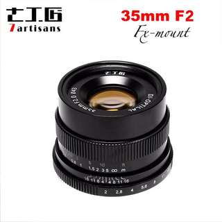 7artisans 35mm/f2 Ten Blades for Fujifilm Fuji Cameras X-A1 X-A10 X-A2 X-A3 X-AT X-M1 XM2 X-T1 X-T10 X-T2 X-T20 X-Pro1 X-Pro2 X-E1 X-E2 X-E2s