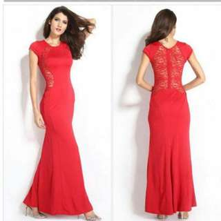 Red Elegant Evening Gown