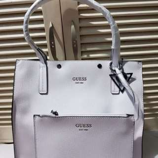 Guess tote with wristlet