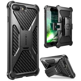 iPhone 7 Plus Case, iPhone 8 Plus Case, i-Blason Transformer [Kickstand] Apple iPhone 7 Plus/iPhone 8 Plus [Heavy Duty] [Dual Layer] Combo Holster Cover case with [Locking Belt Swivel Clip] (Black)