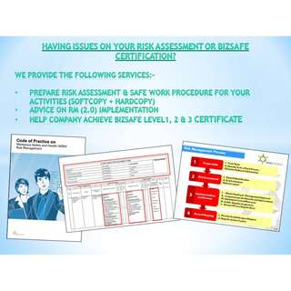 SERVICES - Prepare Risk Assessment, SWP & BizSAFE Level 1, 2 & 3 certification