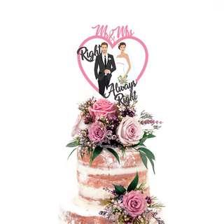 Wedding Cake Topper Mr & Mrs Always Right
