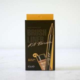 Waterproof Brush Eyeliner Kill - Brown (CLIO)