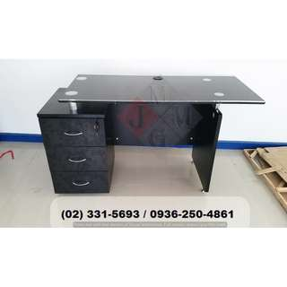 -glass top-with fixed cab'Executive Table.Office Partition
