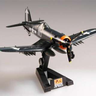 F4U-1 Corsair Model With Stand Easy Model Platinum Collection 1/72 Scale VF-84 USS Bunker Hill 1945 World War 2