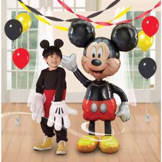 BNIB Disney Mickey Mouse Airwalker Foil Balloon