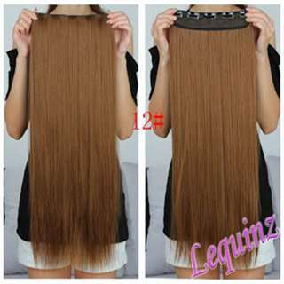 Classic 1 piece Hair Extensions Caramel HOT SALES !