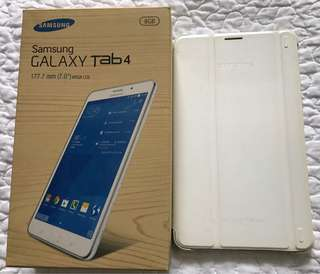 Samsung Galaxy Tab 4 with cover