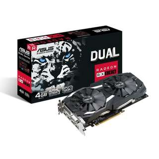 BNIB - ASUS Dual Radeon RX 580 4GB GDDR5 DUAL-RX580-4G GRAPHIC CARD