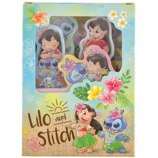 Japan Disneystore Disney Store Lilo & Stitch Tropical Flower Notepad Set