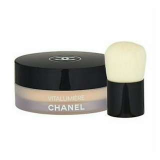Brand New Chanel Vitalumiere Loose Powder Foundation with Mini Kabuki Brush N20