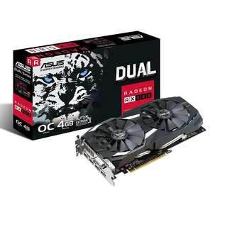 BNIB - ASUS Radeon RX 580 O4G Dual-fan OC Edition GDDR5 DUAL-RX580-O4G AMD Graphics Card