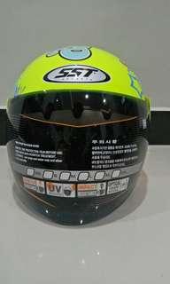 Helm Half Face SST Racer Splash Decal
