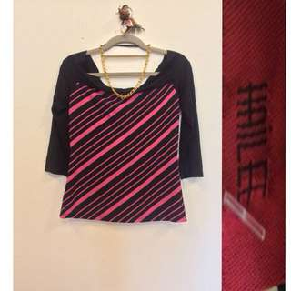 Black and Pink Blouse