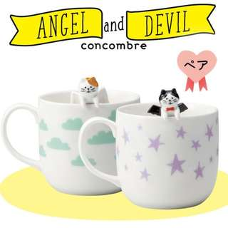 #預購 . 日本 DECOLE concombre 情侶杯 angel and devil