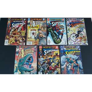 Superman : Time And Time Again (Complete Story Arc of 7 Books)