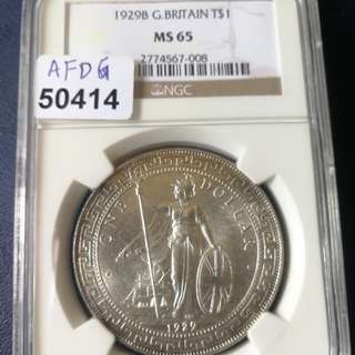 British trade dollar 1929B NGC 65 beautiful coin with full of lustre