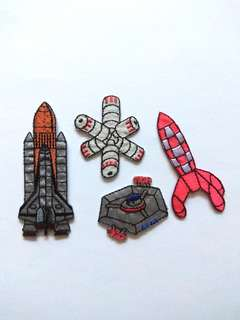 Space Mission Nasa Shuttle Dock Station Iron On Patch