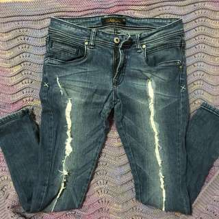 Lee Pipes Ripped Denim Pants