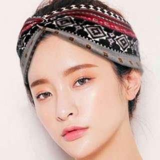 SALE - Headband Elastic Cotton Knot