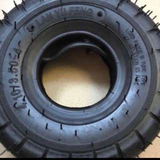 tyre with tube 4.10/3.50-4