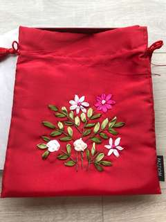 Pazzion drawstring pouch