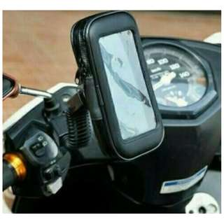 Holder HP di spion stang sepeda motor waterproof anti air - HCR043
