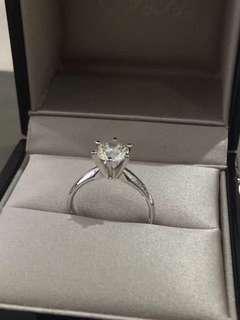 六爪鑽石戒指1.211卡